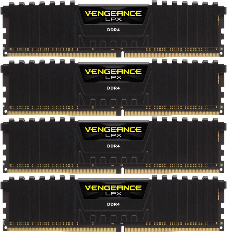 Комплект памяти Corsair Vengeance LPX CMK64GX4M4C3000C15 DDR4 PC4-24000 4x16Gb фото