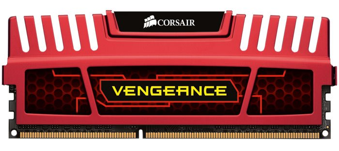 Модуль памяти Corsair Vengeance Red CMZ16GX3M2A1600C10R DDR3 PC-12800 2x8Gb
