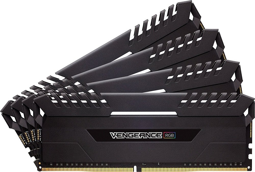 Комплект памяти Corsair Vengeance RGB CMR32GX4M4A2666C16 DDR4 PC4-21300 4x8Gb