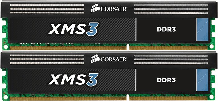 Модуль памяти Corsair XMS3 CMX8GX3M2A1333C9 DDR3 PC3-10600 2x4Gb