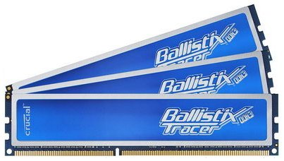 ������ ������ Crucial Ballistix Tracer BL3KIT12864TB1608 DDR3 PC3-12800 3x1GB