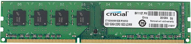 Модуль памяти Crucial CT102464BA160B DDR3 PC3-12800 8Gb фото