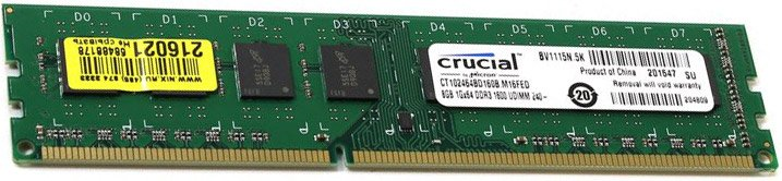 Модуль памяти Crucial CT102464BD160B DDR3 PC3-12800 8Gb фото