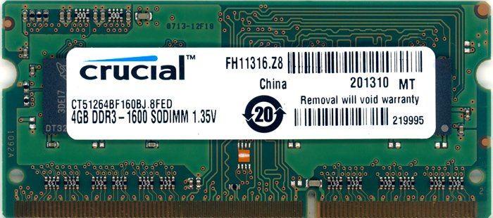 ������ ������ Crucial CT51264BF160BJ DDR3 PC3-12800 4GB