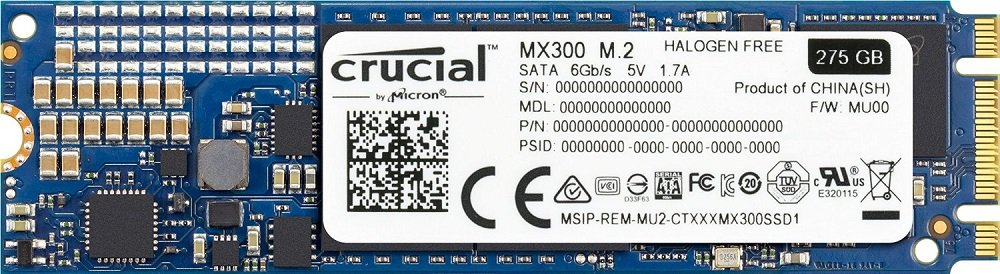 Жесткий диск SSD Crucial MX300 (CT275MX300SSD4) 275Gb