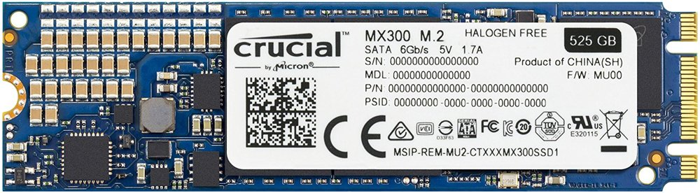 Жесткий диск SSD Crucial MX300 (CT525MX300SSD4) 525Gb