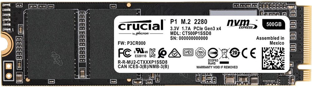 Crucial P1 (CT500P1SSD8)