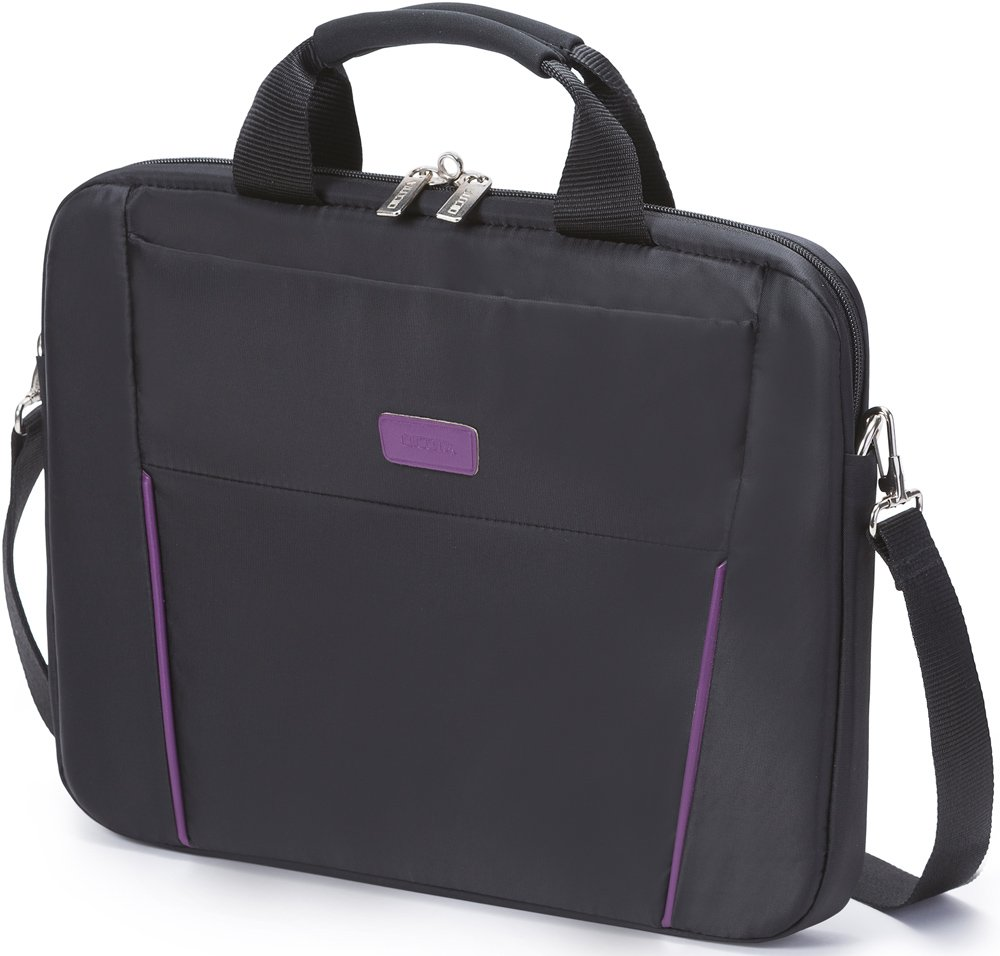 Сумка для ноутбука Dicota Slim Case BASE 14-15.6 Black/Purple (D31000) фото