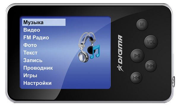 Flash - плеер Digma MP640 1Gb