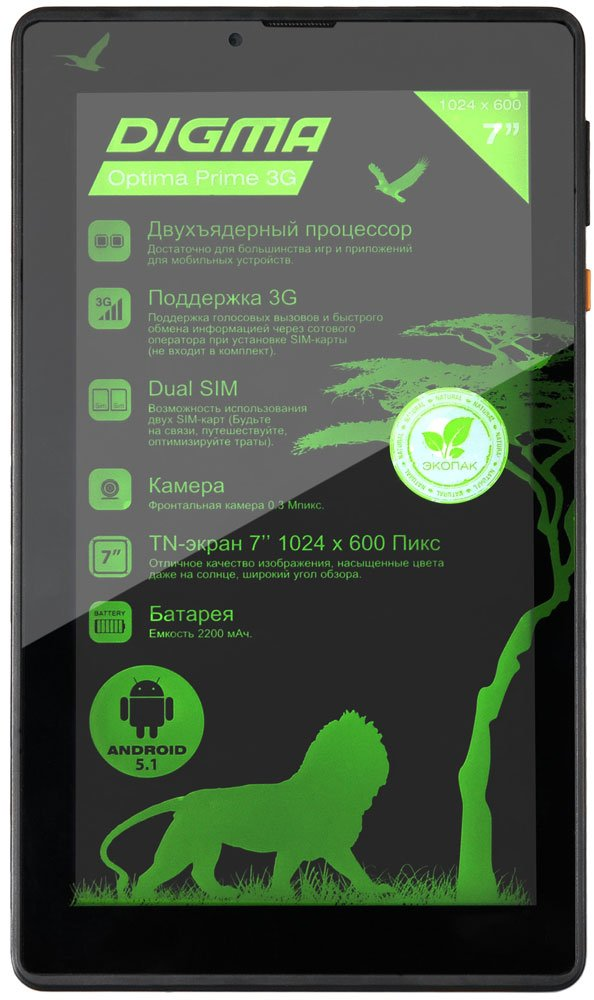 Планшет Digma Optima Prime 3 8GB 3G фото