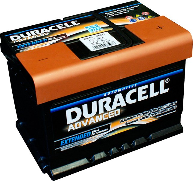 Аккумулятор Duracell Advanced R+ (62Ah)