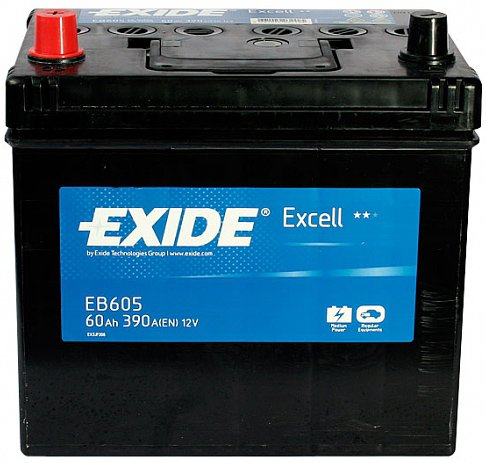 ����������� Exide Excell EB605 L+ (60Ah)