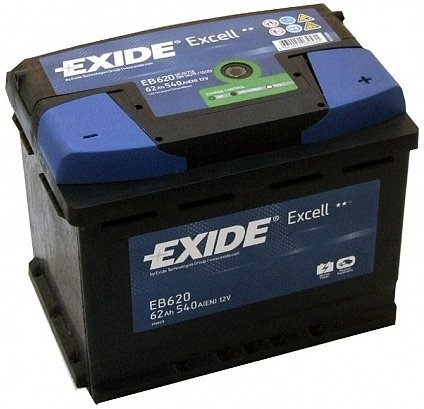 ����������� Exide Excell EB620 R+ (62Ah)