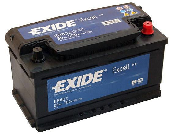 ����������� Exide Excell EB802 R+ (80Ah)