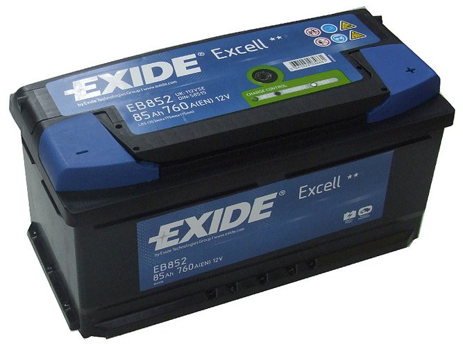����������� Exide Excell EB852 R+ (85Ah)