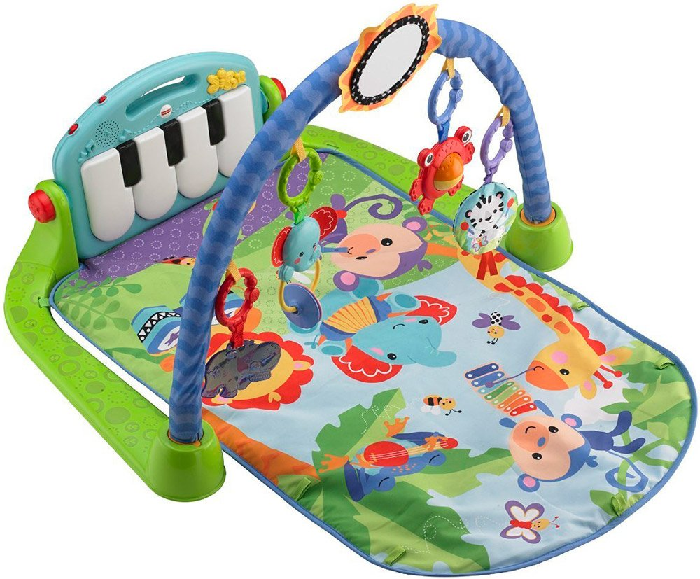Развивающий коврик Fisher-Price BMH49 Kick & Play Piano Gym Blue фото