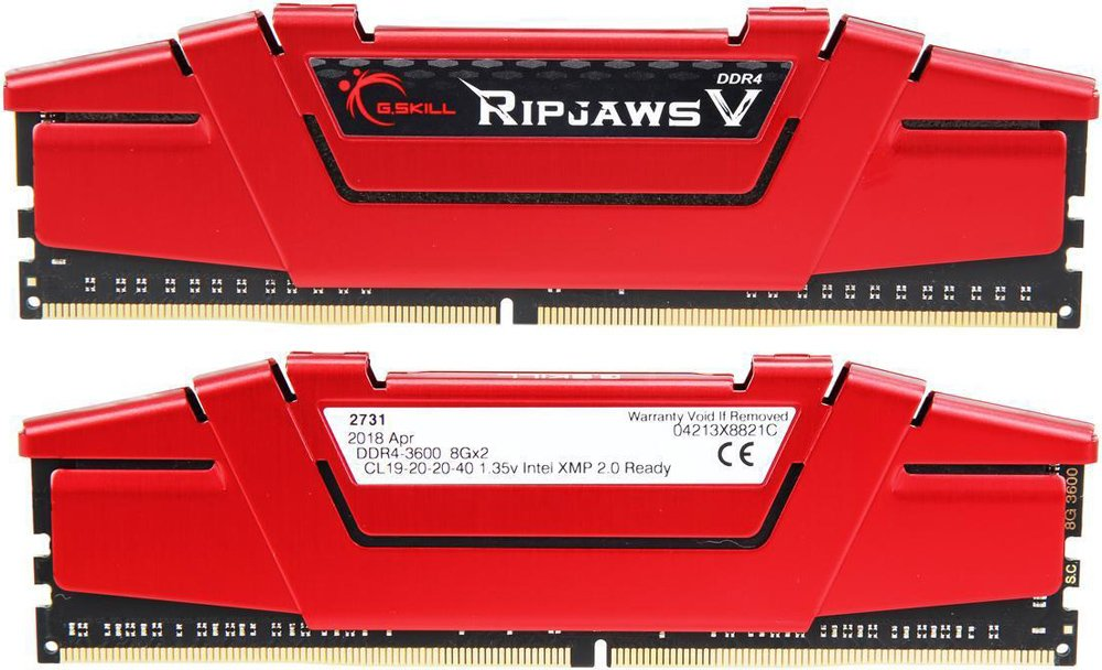 Комплект памяти G.Skill Ripjaws V (F4-3600C19D-16GVRB) DDR4 PC4-28800 2*8Gb фото