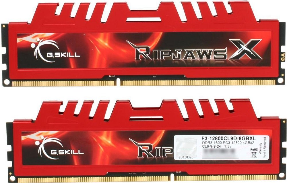 Комплект памяти G.Skill RipjawsX (F3-12800CL9D-8GBXL) DDR3 PC3-12800 2x4GB  фото