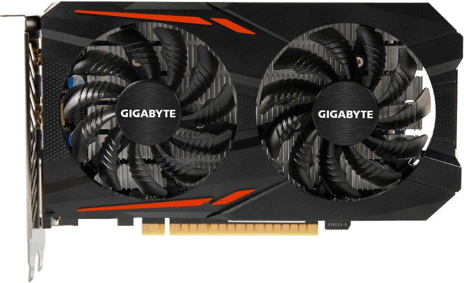 Видеокарта Gigabyte GV-N1050OC-2GD GeForce GTX 1050 2Gb GDDR5 128bit  фото