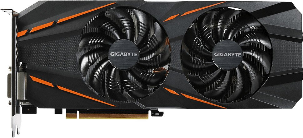Видеокарта Gigabyte GV-N1060D5-6GD GeForce GTX 1060 6Gb GDDR5 192bit  фото