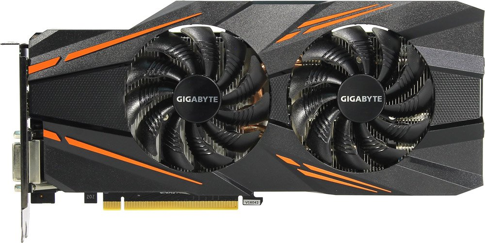Видеокарта Gigabyte GV-N1070WF2-8GD 8Gb GeForce GTX 1070 8Gb GDDR5 256bit  фото