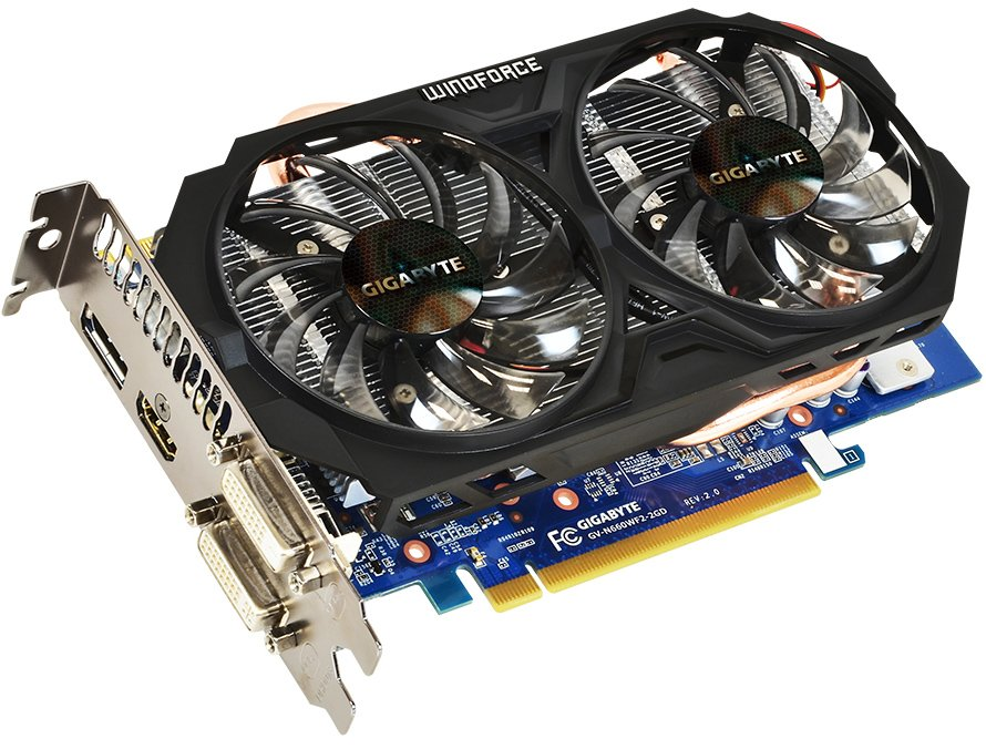 Видеокарта Gigabyte GV-N660WF2-2GD (rev. 2.0) GeForce GTX 660 Ti 2GB GDDR5 192bit