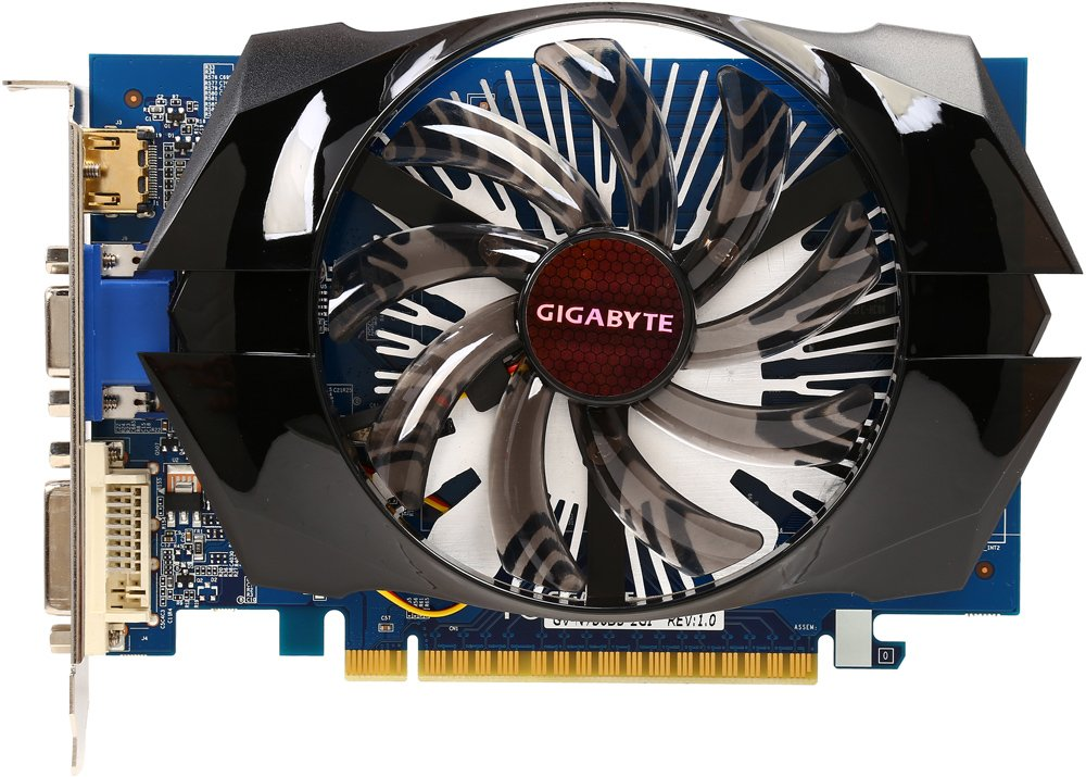Видеокарта Gigabyte GV-N730D5-2GI (rev.1.0) GeForce GT 730 2Gb GDDR5 64bit фото