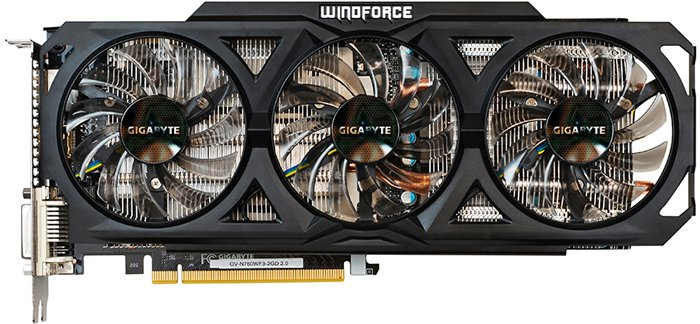 Видеокарта Gigabyte GV-N760WF3-2GD (rev. 2.0) GeForce GTX 760 2GB DDR5 256bit