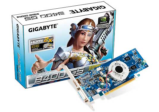 Видеокарта Gigabyte GV-N84S-512I GeForce 8400GS 512Mb 64bit