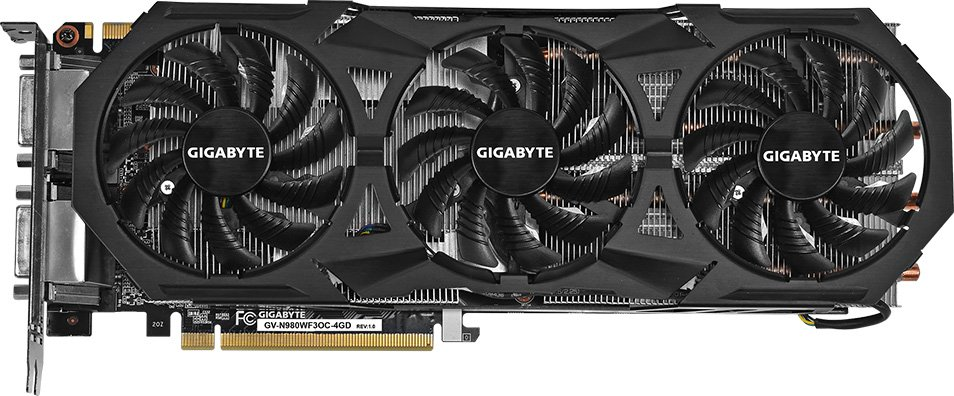 Видеокарта Gigabyte GV-N980WF3OC-4GD (rev. 1.0/1.1) GeForce GTX 980 4Gb GDDR5 256bit