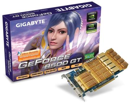 Видеокарта Gigabyte GV-NX85T512HP GeForce 8500GT 512Mb 128bit