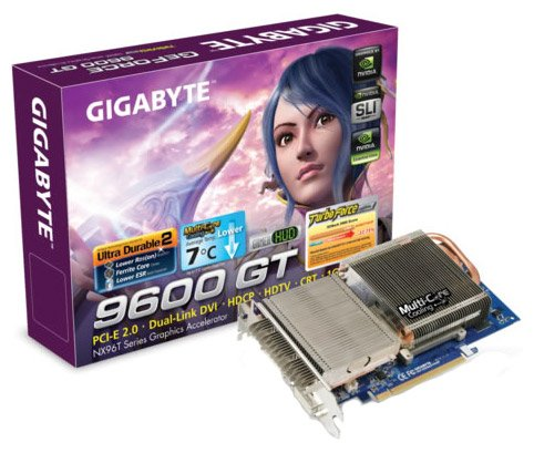 Видеокарта Gigabyte GV-NX96T512HP GeForce 9600GT 512Mb 256bit