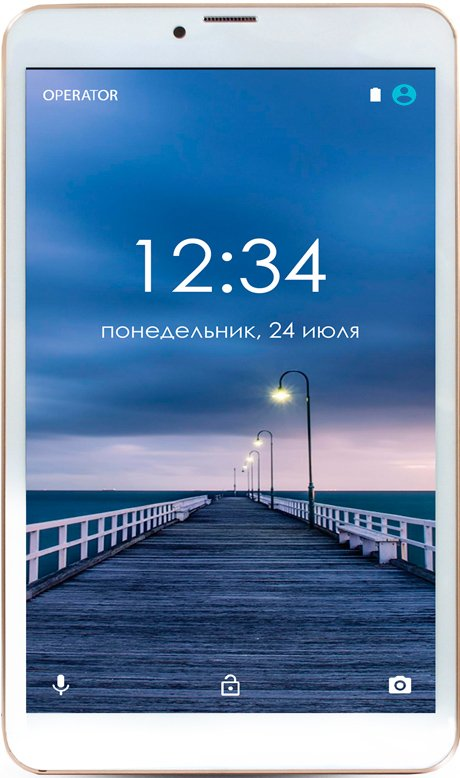 Планшет Ginzzu GT-8010 rev.2 16GB LTE Gold