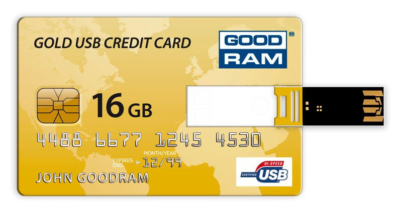 USB-флэш накопитель GOODRAM Credit Card 16GB PD16GH2GRCCPR9