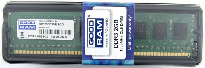 Модуль памяти GoodRam GR1333D364L9/2G DDR3 PC10600 2Gb