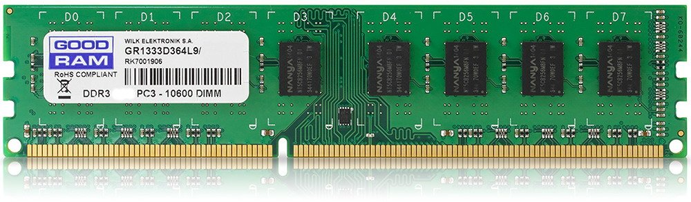 Модуль память GoodRam GR1333D364L9S/4G DDR3 PC3-10600 8GB