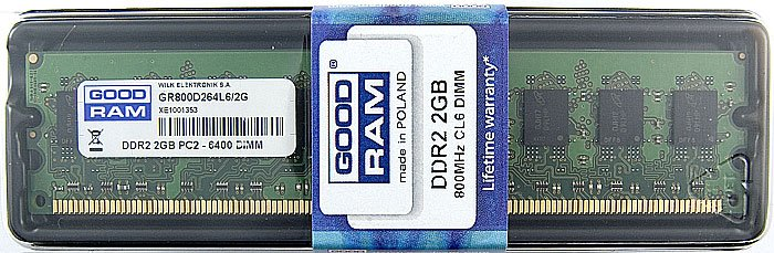 Модуль памяти GoodRam GR800D264L6/2G DDR2 PC6400 2Gb фото