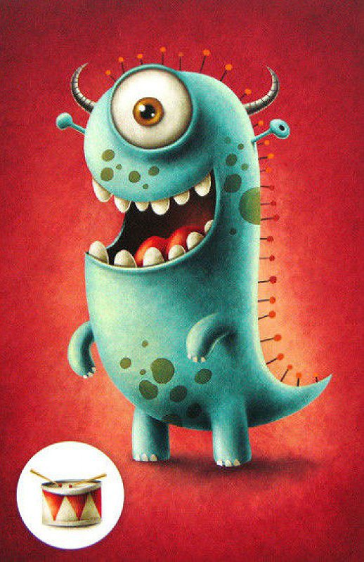 illustration and characterization in theres a monster In this video, you will learn to draw monster eyes with angry expression in adobe illustrator you will learn a lot about making special gradient mix.