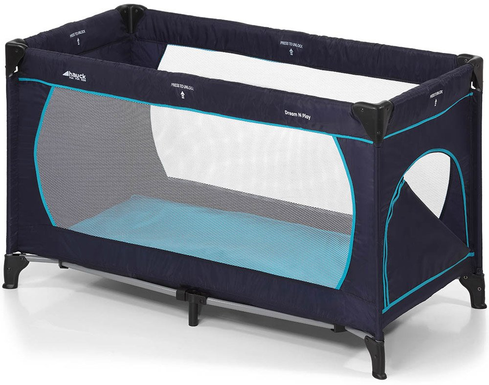 Манеж-кровать Hauck Dream'n Play Plus navy/aqua фото