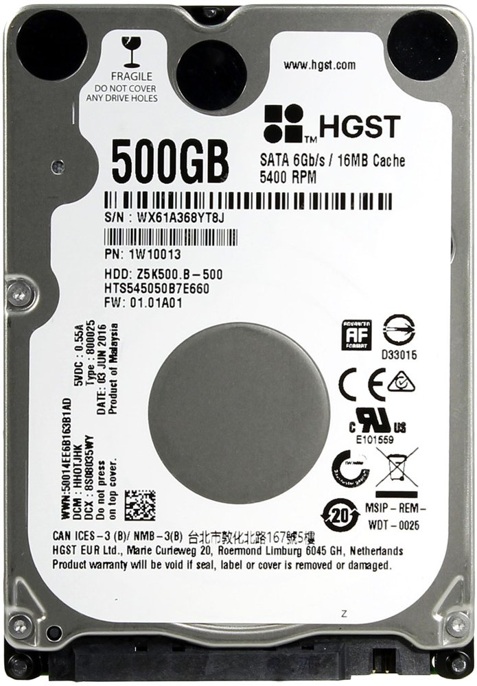Жесткий диск Hitachi Travelstar Z5K500.B (HTS545050B7E660) 500 Gb