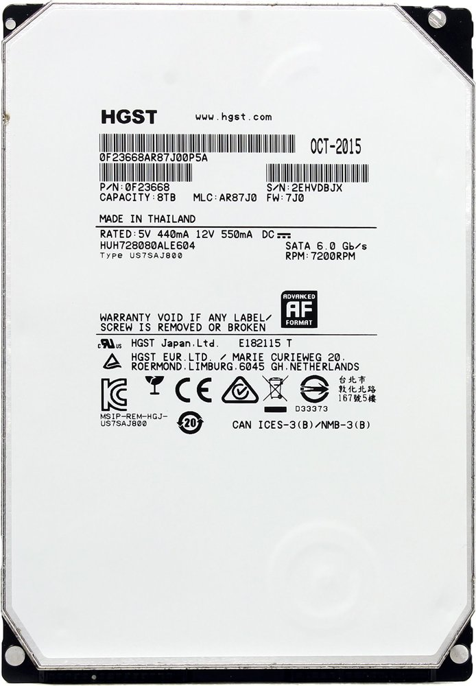 Жесткий диск Hitachi Ultrastar He8 (HUH728080ALE604) 8000 Gb