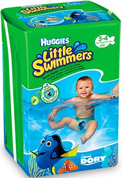 Трусики HUGGIES Little Swimmers 3-4 (7-15 кг) 12шт