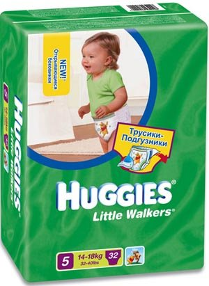 Трусики Huggies Little Walkers 5 (14-18 кг) 32 шт