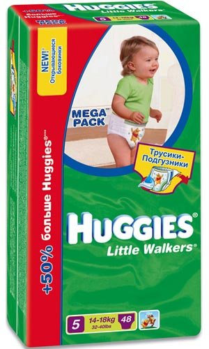 Трусики Huggies Little Walkers 5 (14-18 кг) 48 шт
