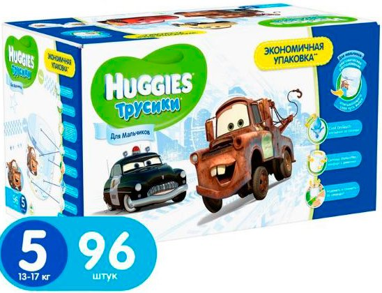 Трусики HUGGIES Little Walkers 5 Boy Disney Box (13-17 кг) 96 шт