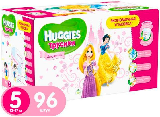 Трусики HUGGIES Little Walkers 5 Girl Disney Box (13-17 кг) 96 шт фото