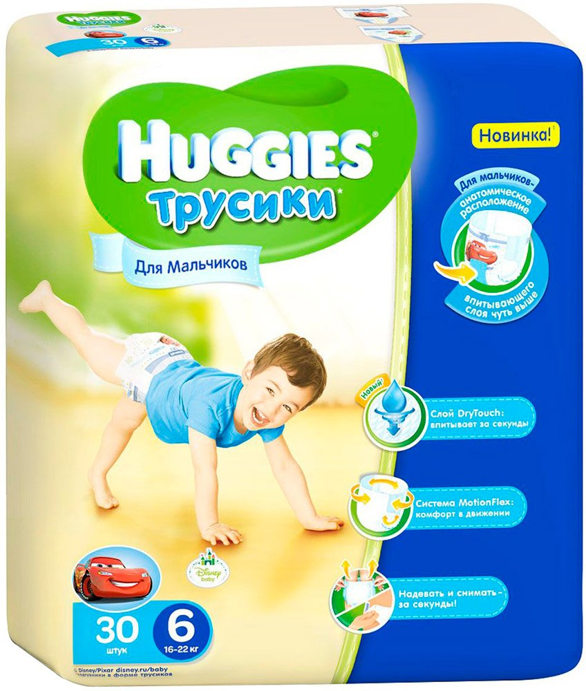 Трусики HUGGIES Little Walkers 6 Boy (16-22 кг) 30 шт