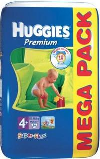 Подгузники Huggies Super Flex Premium 4+ (10-16 кг) Mega Pack 66 шт