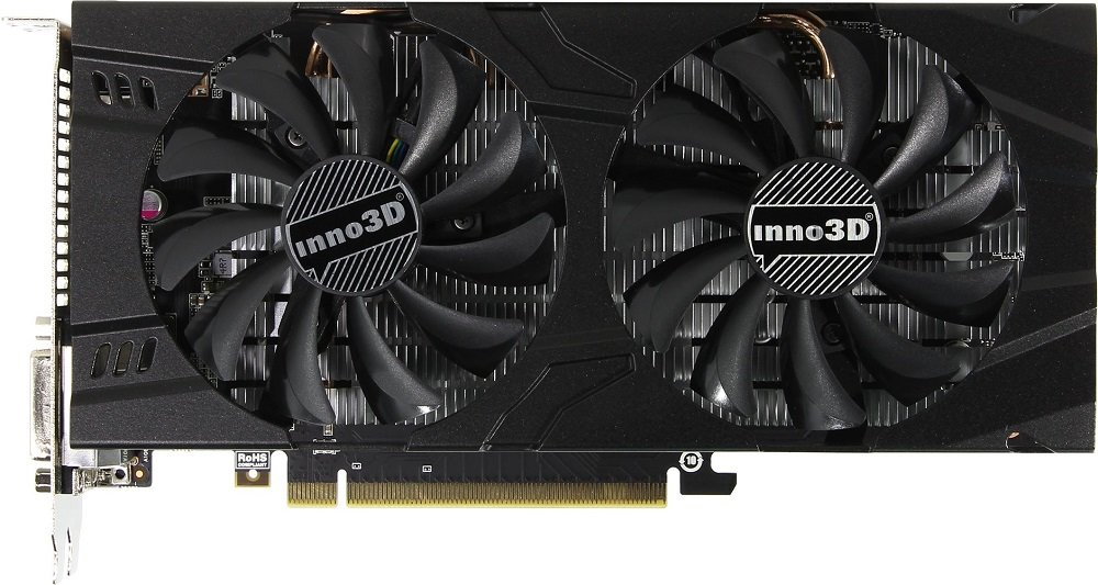 Видеокарта Inno3D N106F-5SDN-N5GS GeForce GTX 1060 6Gb GDDR5 192bit фото