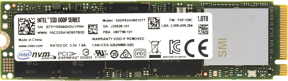 Жесткий диск SSD Intel 600p Series (SSDPEKKW010T7X1) 1000Gb